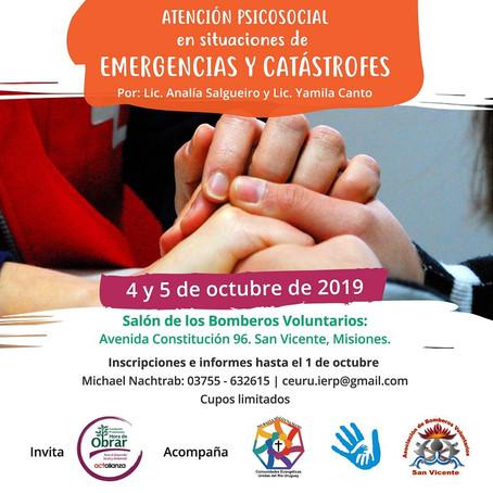 📣 ¡Taller gratuito! Atención psicosocial ante situaciones de emergencias y catástrofes.