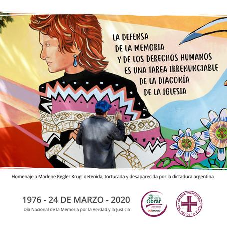 """24 de marzo: """"Sí a la memoria, la verdad y la justicia"""""""