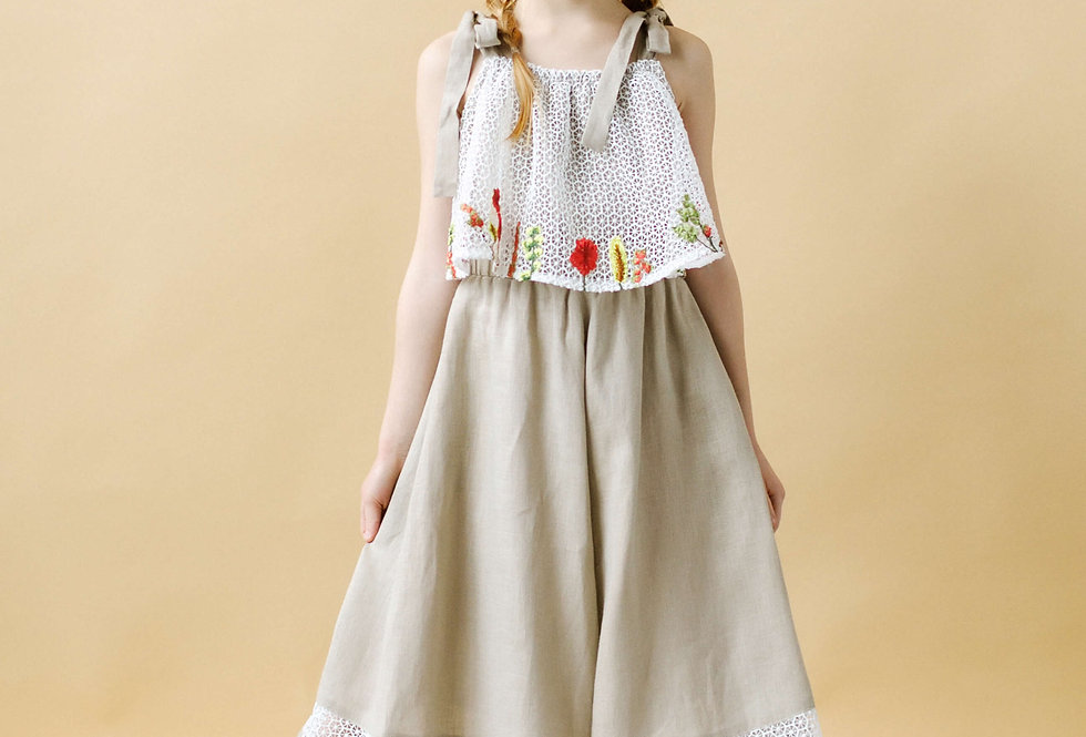 girls linen onesie