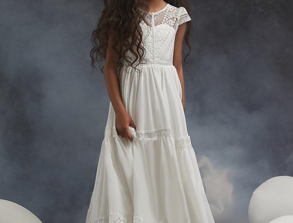 bohemian flower girl dress