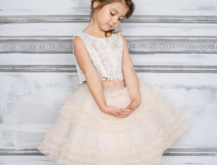 creme tutu dress