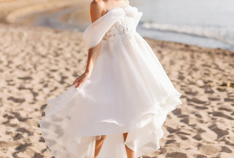 flower girl dress asymmetric skirt
