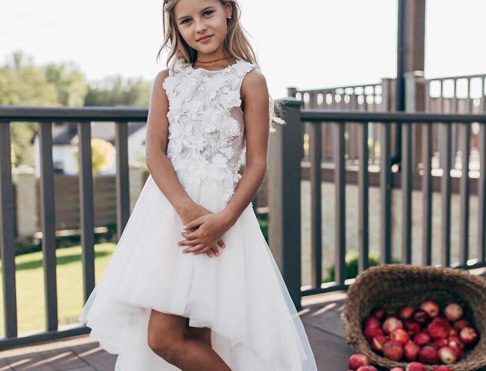 flower girl dress asymmetrical