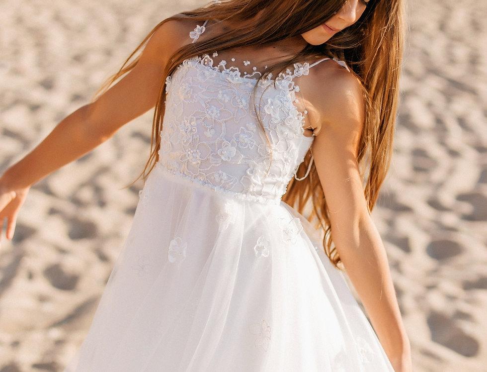 flower girl dresses open shoulders