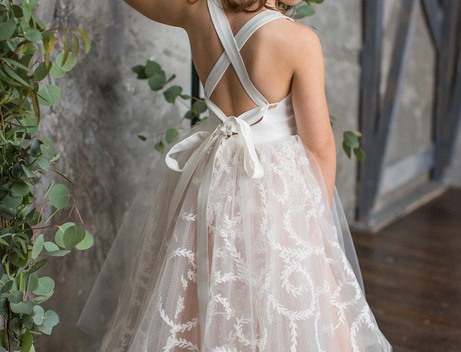lace flower girl dress australia