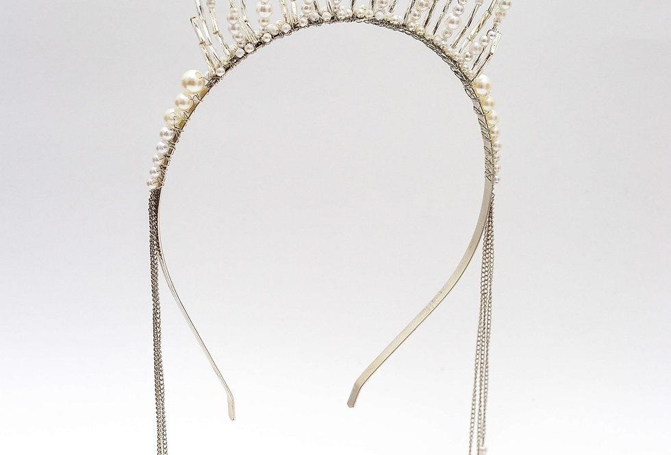 bridal pearl head piece
