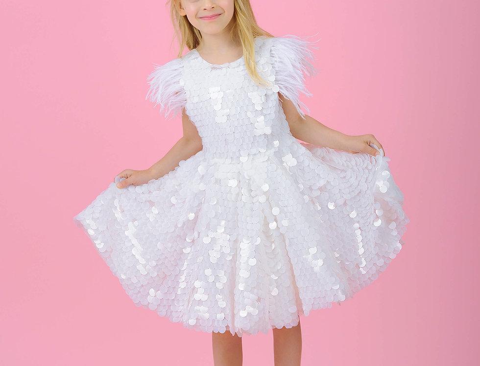 sequin girls dress