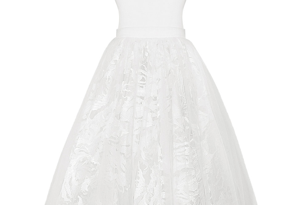 flower girl dress lace up back