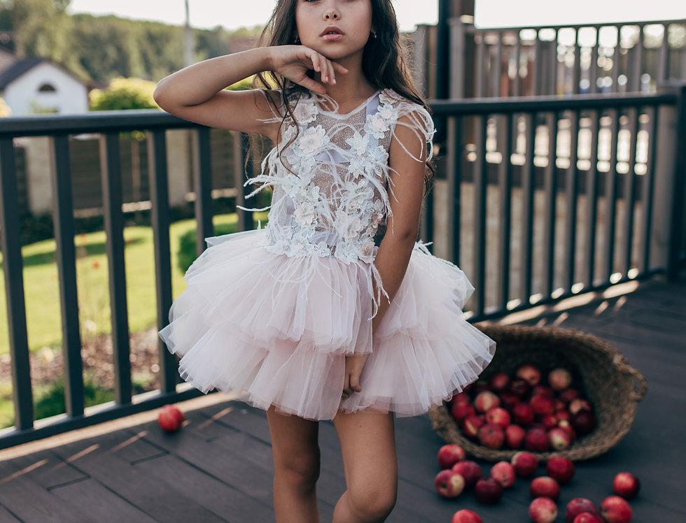 dusty pink tutu dress