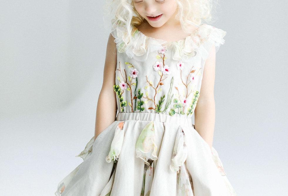 special occasion linen girls dress