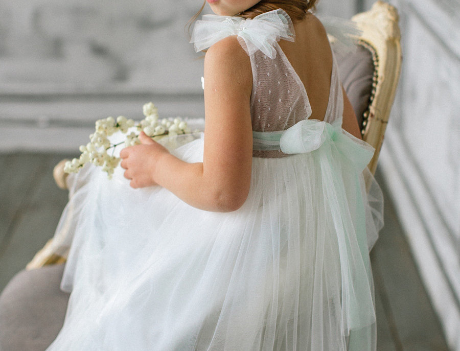 mint flower girl dress