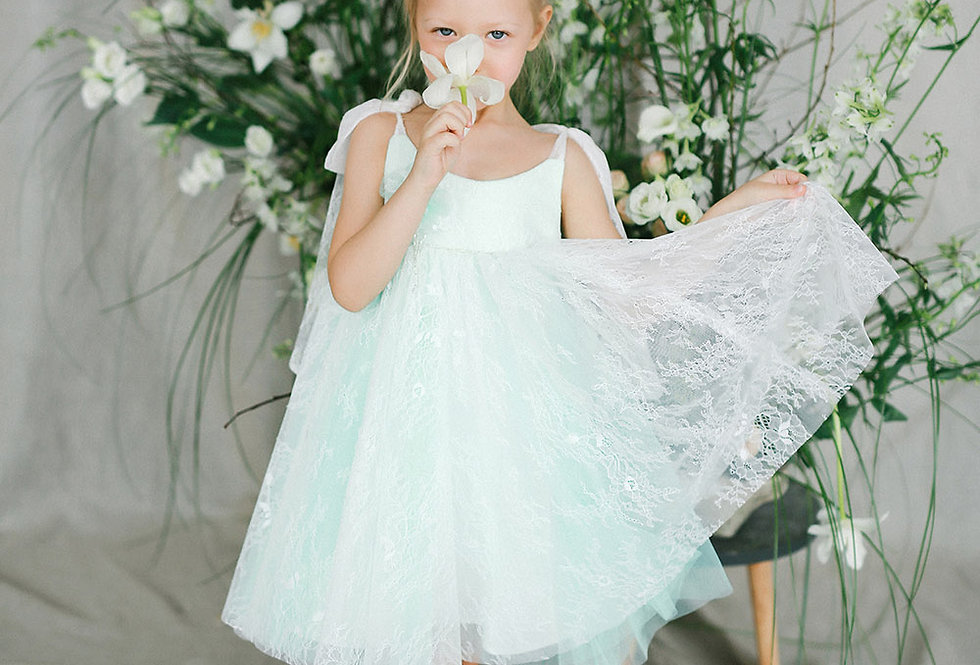 mint special occasion girls dress
