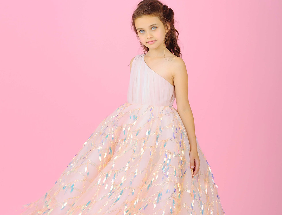 pink occasion dress for girls