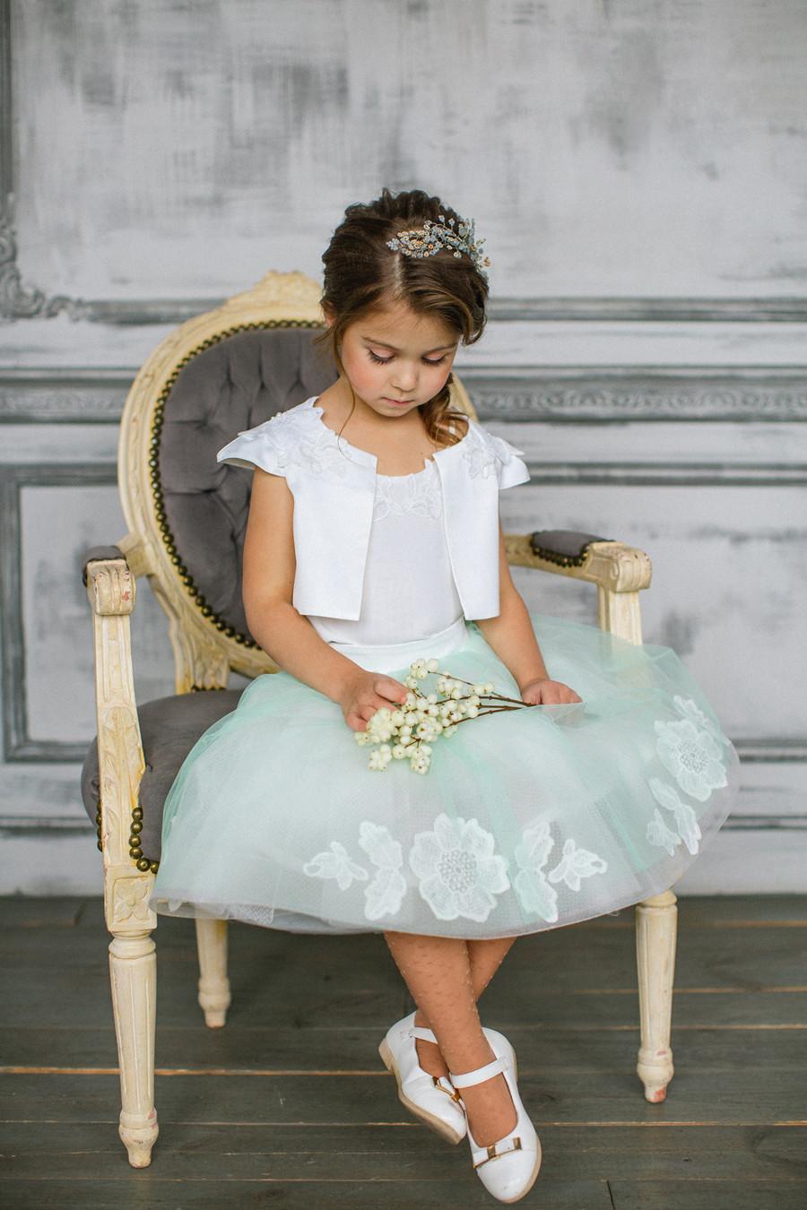 girls dresses mint white