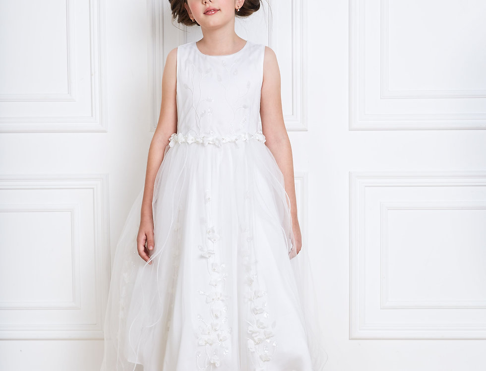holy communion dress with train