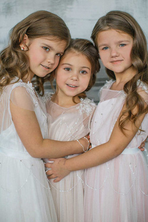 Maxi Flower Girl Dresses for Enchanted Garden Wedding