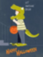 halloween, kids, fun, vector, illustration, dinosaur