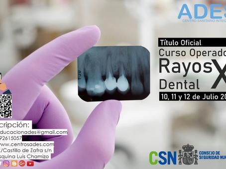Convocatoria Julio 2020. Operador Rayos X Dental
