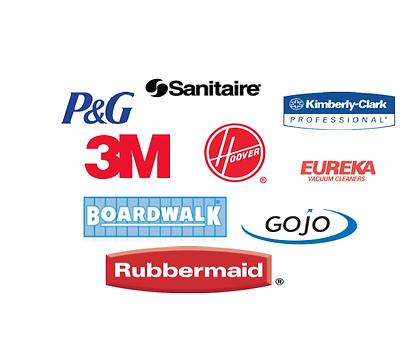 Garland Supply Sanitaire Boardwalk 3M Rubbermaid Proctor & Gamble Eureka Gojo