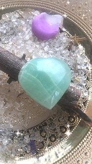 Pistachio Calcite - Crystalline Heart