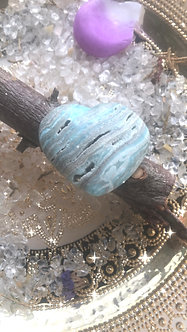 Blue Aragonite - Crystalline Heart