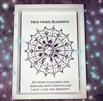 New Home Blessing Mandala Lightcode Crystal Grid