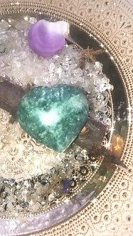 Moss Agate - Crystalline Heart