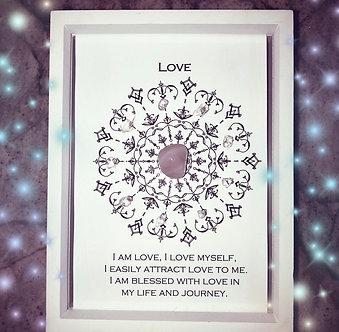 Love Mandala Lightcode Crystal Grid
