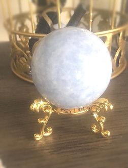 Medium Blue Celestite - Crystalline Womb Sphere