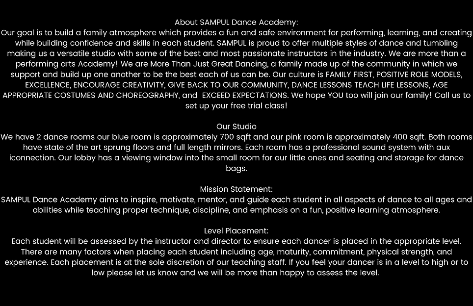About SAMPUL Dance Academy_ Our goal is