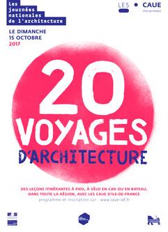 20 voyages d'architecture //        Partenariat ESA-CAUE d'île-de-France