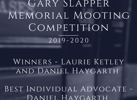 The Gary Slapper Memorial Mooting Competition 2019/2020