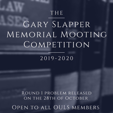 Gary Slapper Memorial Moot 2019-2020