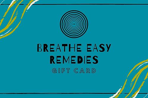 Breathe Easy Gift Card