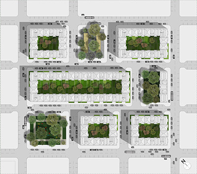 Residential master plan proposal, Moscow, Russia, 2017