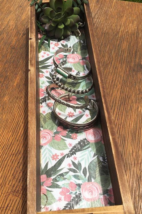 Short/Narrow Succulent Jewelry Tray