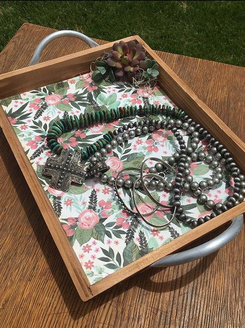 Succulent Jewelry Tray