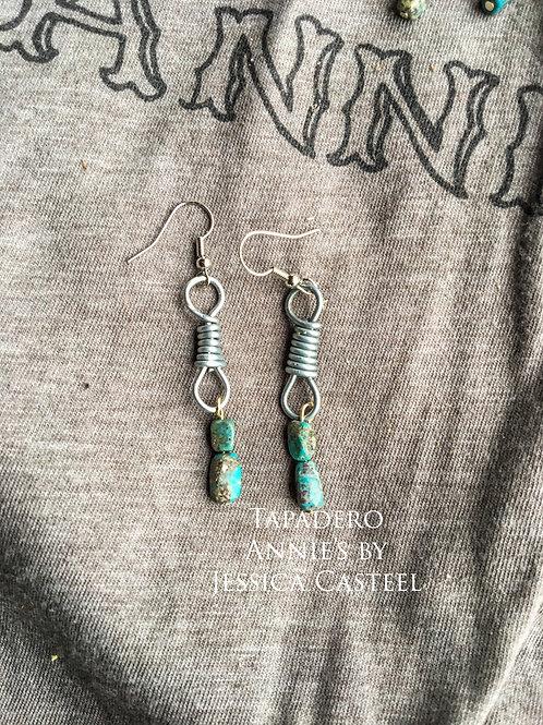Double Bead Rein Chain Earring