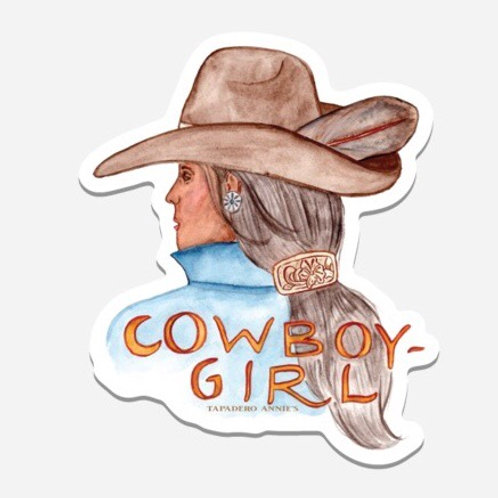 Cowboy-Girl Die Cut Sticker