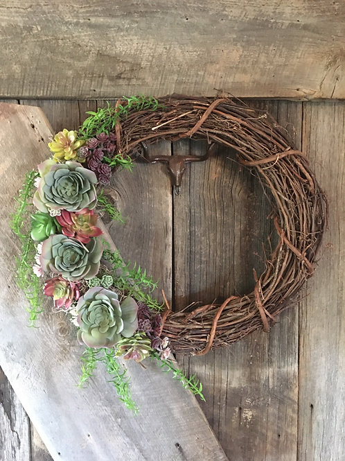 Large Succulent Wreath