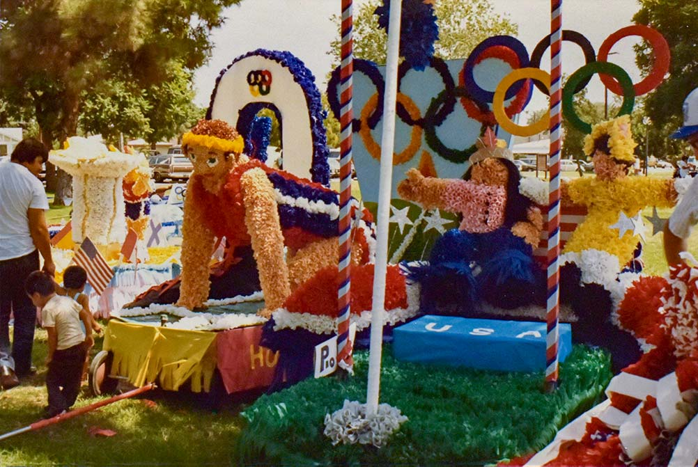 Float for the Olympics Parade 1984