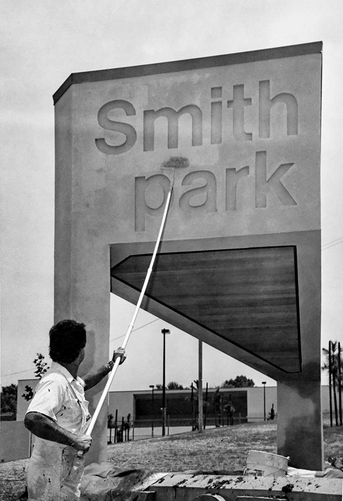 Smith Park Sign Painted