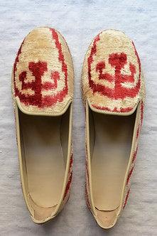 Velvet Ikat & Leather Loafer