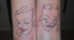 Comedy and Tragedy Tattoo