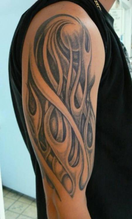 Tribal Flames Tattoo