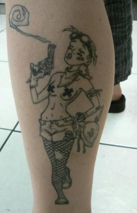 Tank Girl Tattoo
