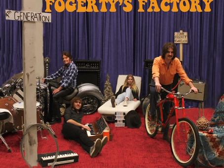 John Fogerty and three of his kids recreate the cover of the classic CCR album Cosmo's Factory