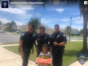 Florida boy calls 911 because he's hungry, so cops bring him a pizza