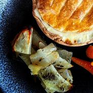 Chicken, Leek and Ham Shortcrust Pastry Pie