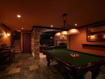 Turn your unused basement space into your own game and entertainment room!